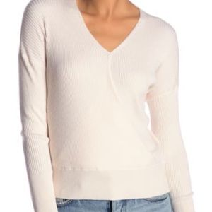 Elodie Ribbed wrapped sweater